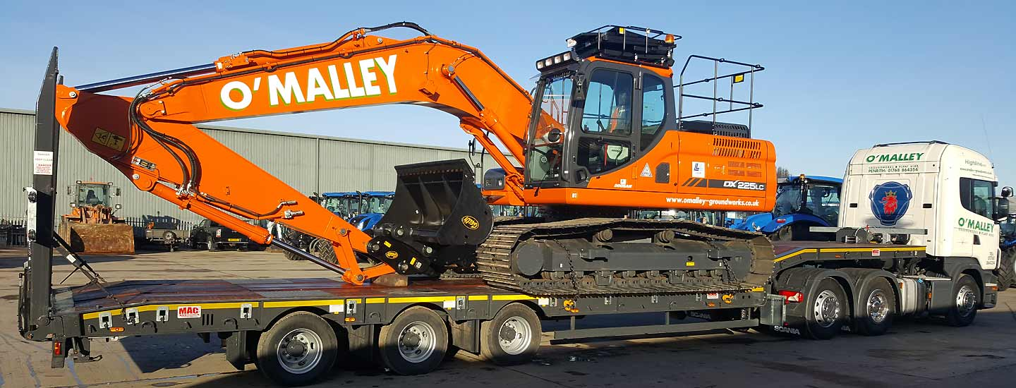 Haulage equipment from O'Malley Groundworks and Plant Hire Penrith Cumbria