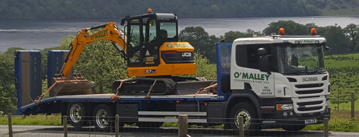 Photo: plant hire equipment from O'Malley Groundworks and Plant Hire Penrith Cumbria