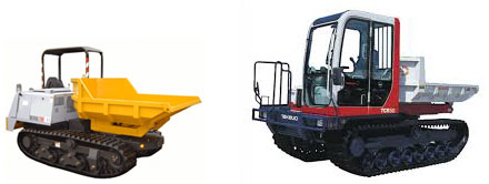 Photo: tracked dumpers for hire