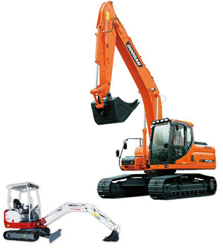Photo: excavators for hire