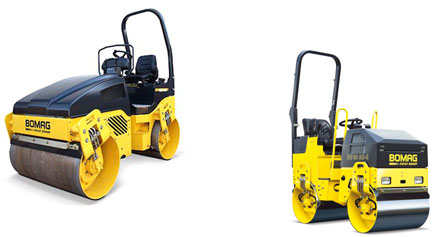 Photo: Bomag rollers for hire