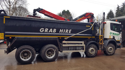 Photo: Haulage wagon from O'Malley Groundworks and Plant Hire, Penrith, Cumbria
