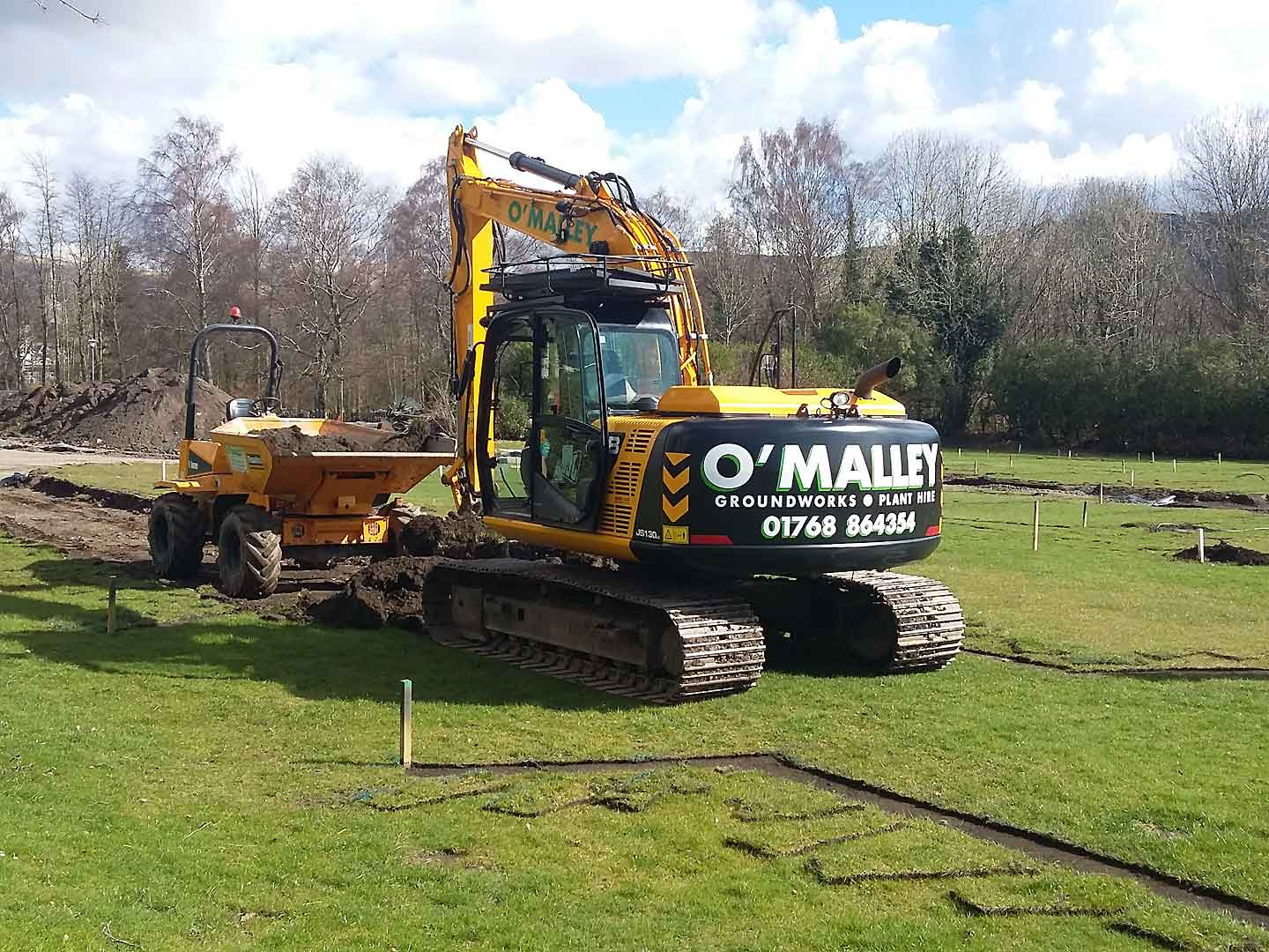 Photo: O'Malley Groundworks and Plant Hire, Penrith, Cumbria